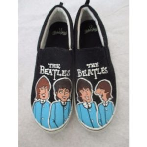 Other - Mens Beatles Shoes Hand Painted 12 Black Custom